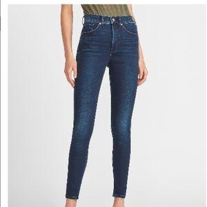 Express Stretch mid rise denim Jean legging